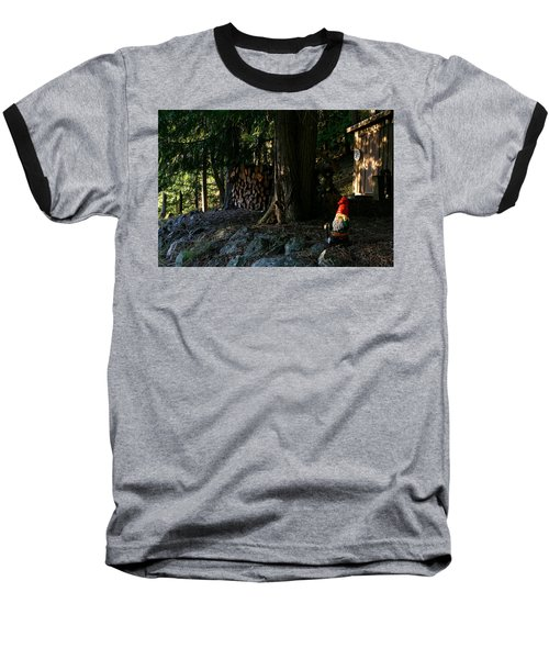 Gnome And The Woodpile Baseball T-Shirt