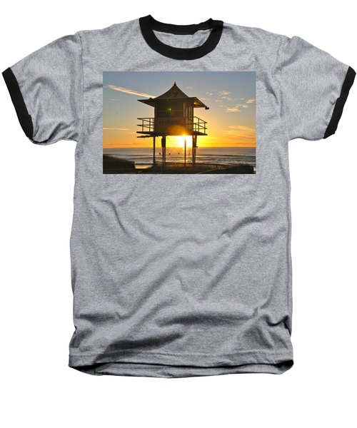 Baseball T-Shirt featuring the photograph Gold Coast Life Guard Tower by Eric Tressler