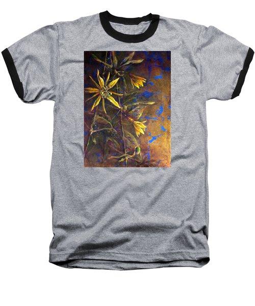 Gold Passions Baseball T-Shirt by Ashley Kujan