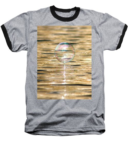 Golden Bubble Baseball T-Shirt by Cathie Douglas