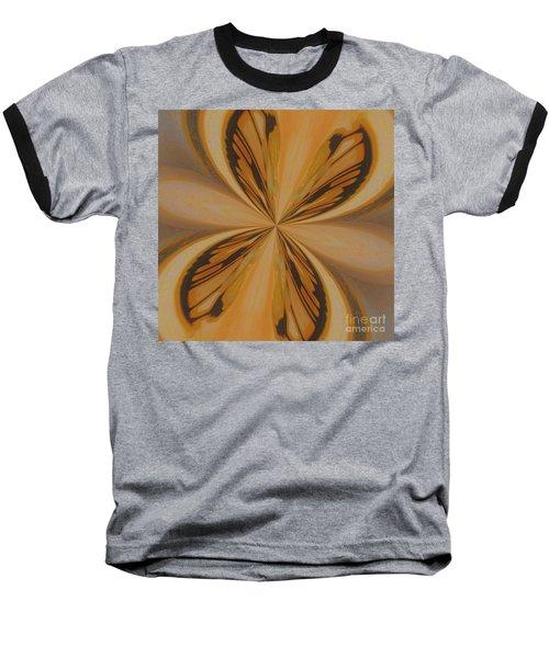 Golden Butterfly Baseball T-Shirt by Marsha Heiken