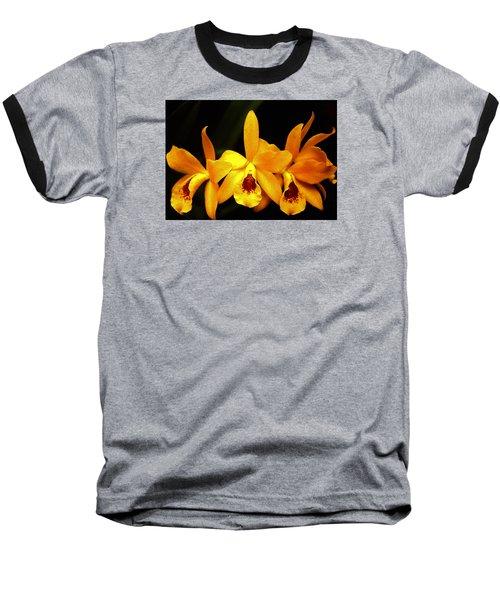 Baseball T-Shirt featuring the photograph Golden Cattleya by Rosalie Scanlon
