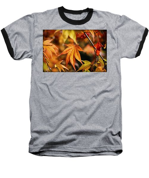 Baseball T-Shirt featuring the photograph Golden Fall. by Clare Bambers