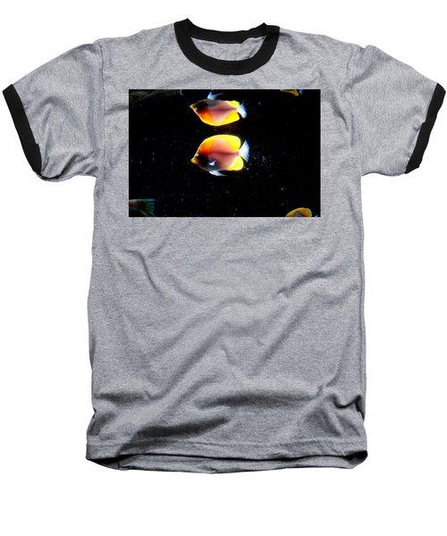 Golden Fish Reflection Baseball T-Shirt