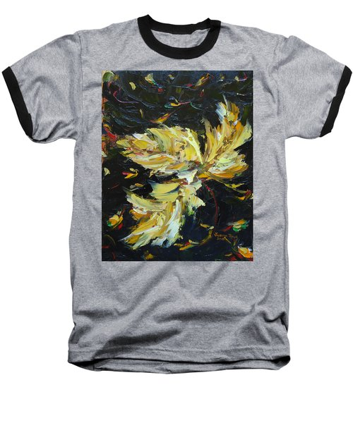 Baseball T-Shirt featuring the painting Golden Flight by Judith Rhue