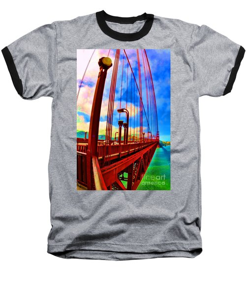 Golden Gate Bridge - 8 Baseball T-Shirt