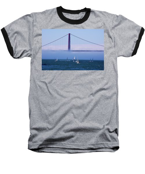 Baseball T-Shirt featuring the photograph Golden Gate Windsurfers by Don Schwartz