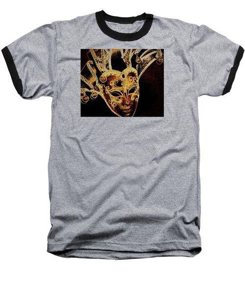 Golden Mask Baseball T-Shirt by Lori Seaman