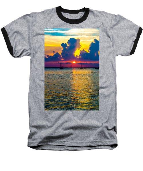 Golden Waters Baseball T-Shirt by Shannon Harrington