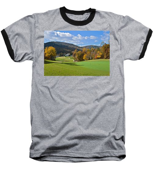 Golf Course In Autumn Baseball T-Shirt