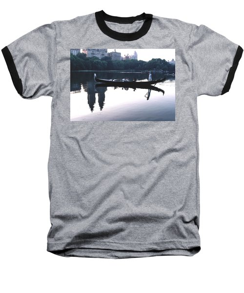 Baseball T-Shirt featuring the photograph Gondola On The Central Park Lake by Tom Wurl