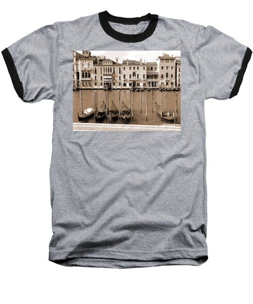 Gondolas Outside Salute Baseball T-Shirt by Donna Corless