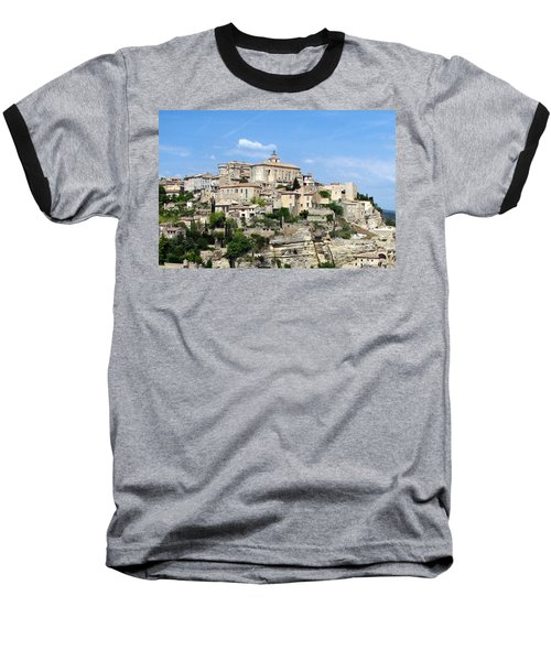 Gordes In Provence Baseball T-Shirt by Carla Parris
