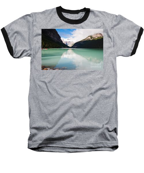 Baseball T-Shirt featuring the photograph Gorgeous Lake Louise by Cheryl Baxter