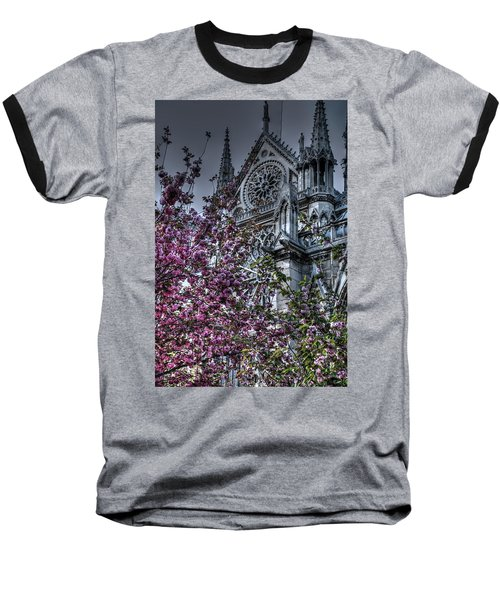 Baseball T-Shirt featuring the photograph Gothic Paris by Jennifer Ancker