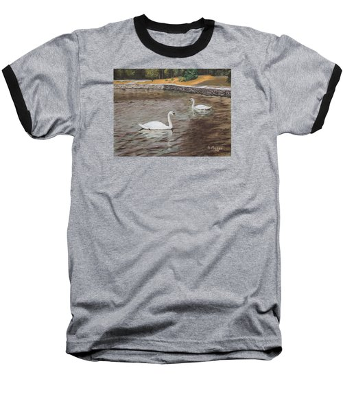 Graceful Swimmers Baseball T-Shirt