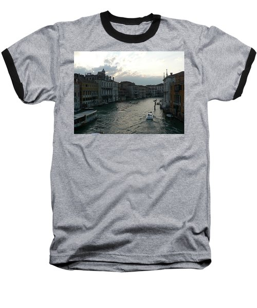 Baseball T-Shirt featuring the photograph Grand Canal At Dusk by Laurel Best