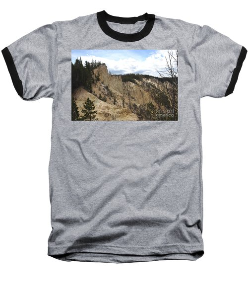 Grand Canyon Cliff In Yellowstone Baseball T-Shirt by Living Color Photography Lorraine Lynch
