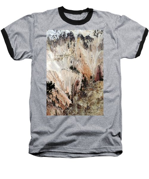 Grand Canyon Of Yellowstone Vertical Baseball T-Shirt by Living Color Photography Lorraine Lynch