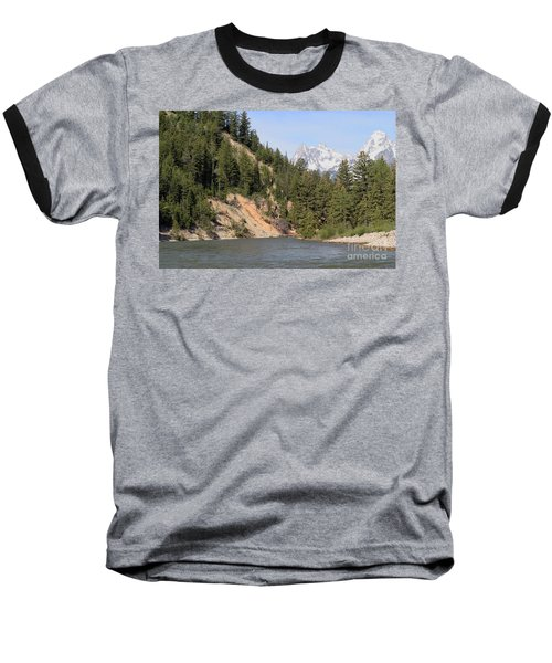 Grand Tetons From Snake River Baseball T-Shirt by Living Color Photography Lorraine Lynch