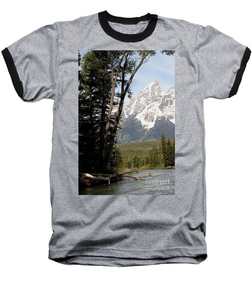 Grand Tetons Vertical Baseball T-Shirt by Living Color Photography Lorraine Lynch