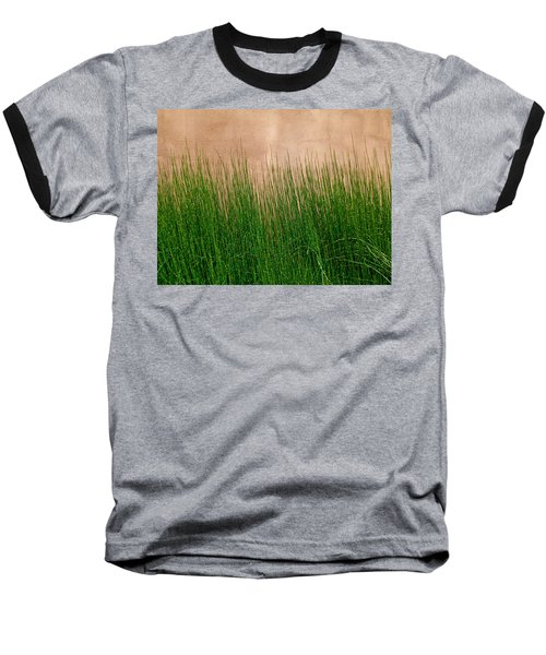 Baseball T-Shirt featuring the photograph Grass And Stucco by David Pantuso