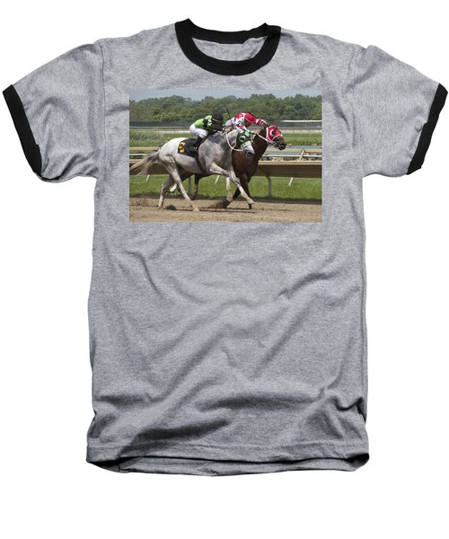 Baseball T-Shirt featuring the photograph Gray Vs Bay by Alice Gipson