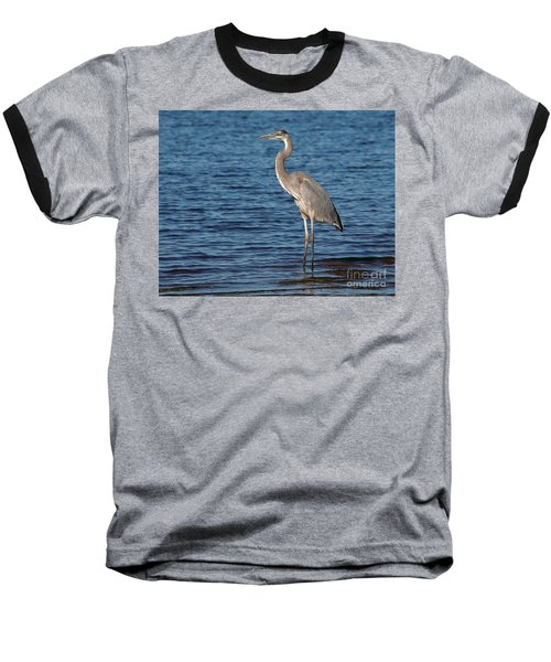Baseball T-Shirt featuring the photograph Great Blue Heron by Art Whitton