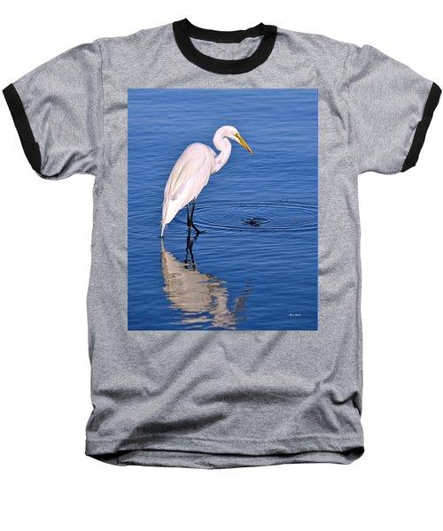 Great Egret With Shrimp Baseball T-Shirt