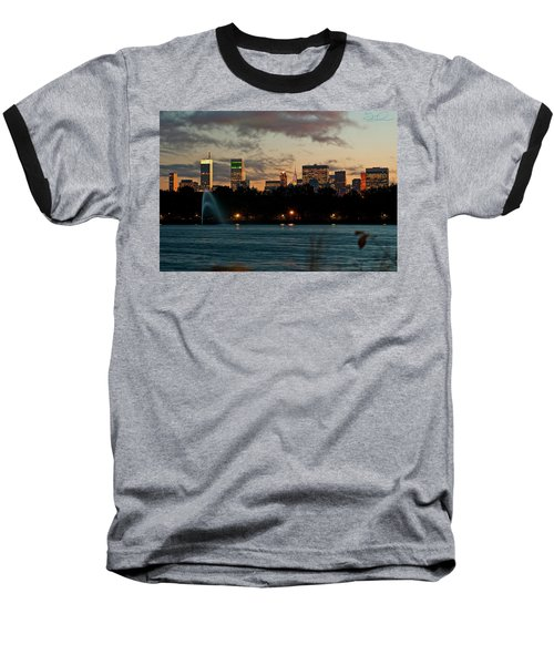 Great Pond Fountain Baseball T-Shirt