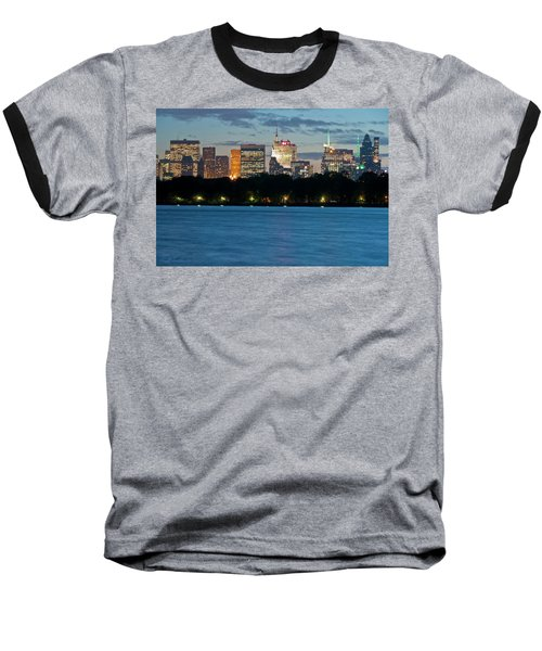 Great Pond Skyline Baseball T-Shirt