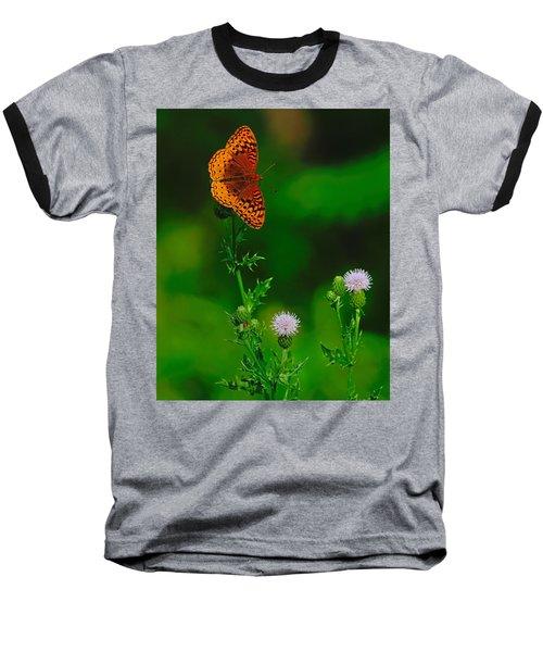 Great Spangled Fritillary Baseball T-Shirt
