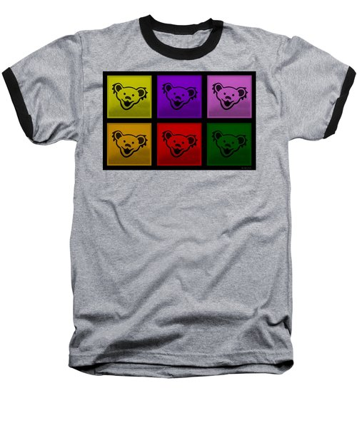Greatful Dead Dancing Bears In Multi Colors Baseball T-Shirt
