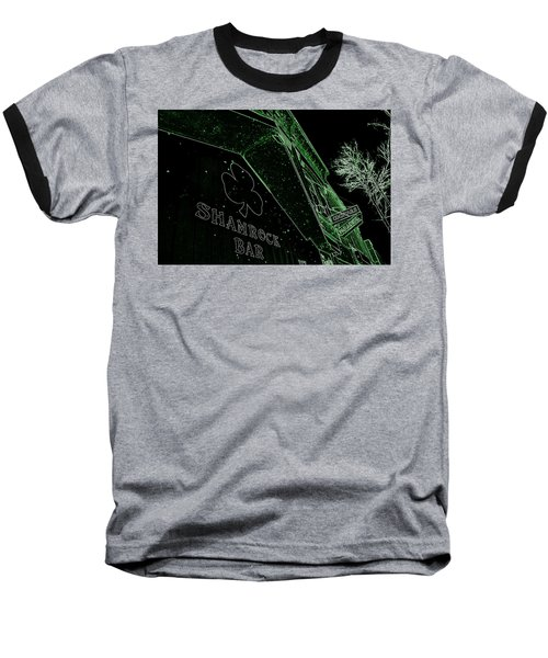Green Night Baseball T-Shirt by Zafer Gurel