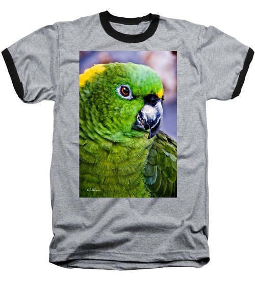 Green Parrot Baseball T-Shirt