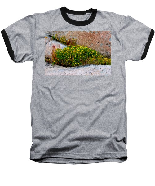 Baseball T-Shirt featuring the photograph Growing In The Cracks by Brent L Ander