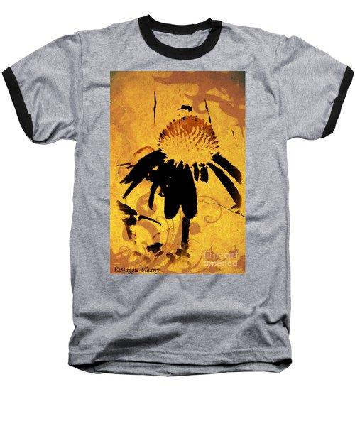Grunge  Daisy Art Baseball T-Shirt