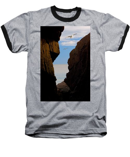 Baseball T-Shirt featuring the photograph Gulls Of Acadia by Brent L Ander