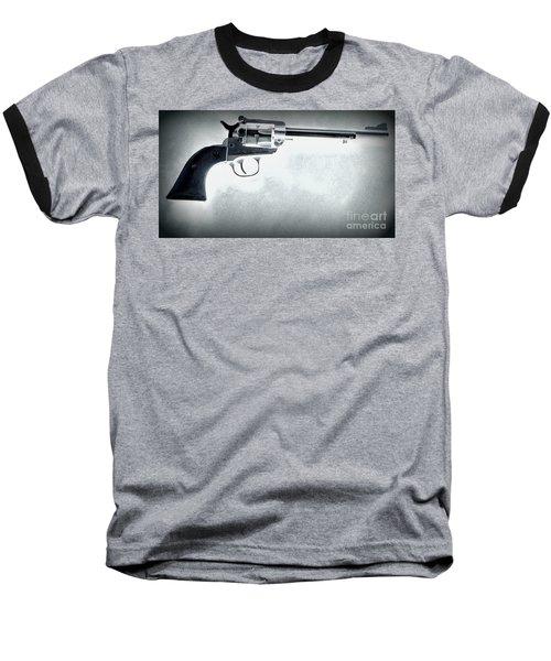 Baseball T-Shirt featuring the photograph Guns And Leather 3 by Deniece Platt