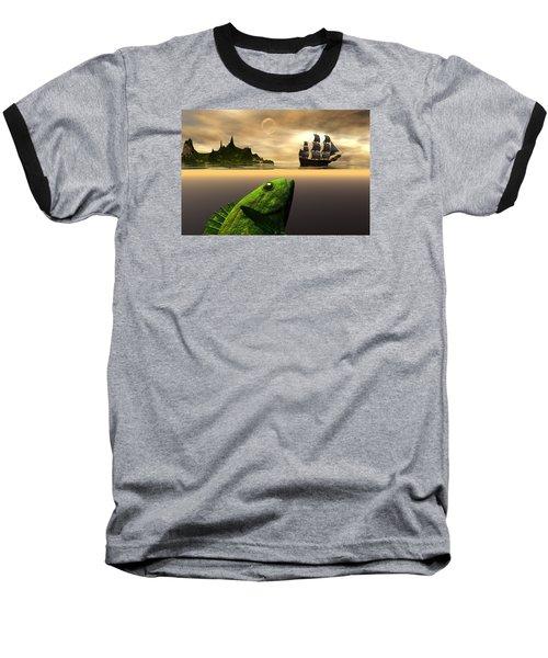 Baseball T-Shirt featuring the digital art Gustatory Anticipation by Claude McCoy