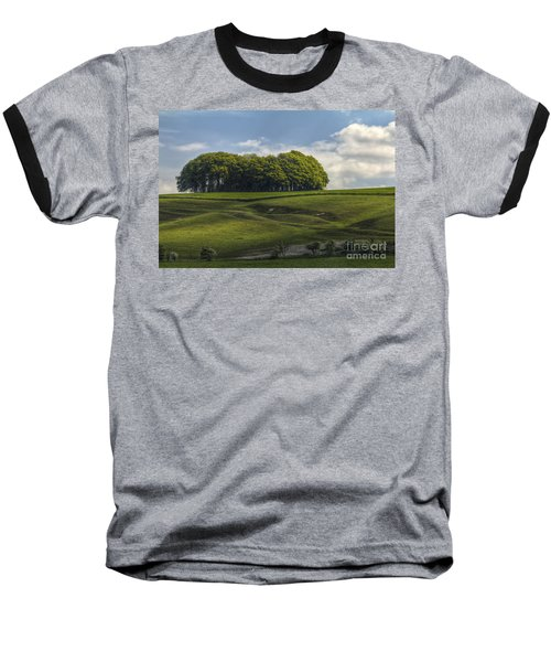 Baseball T-Shirt featuring the photograph Hackpen Hill by Clare Bambers