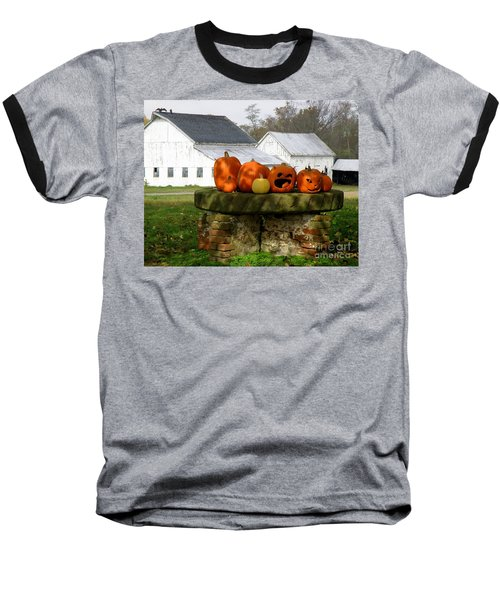 Baseball T-Shirt featuring the photograph Halloween Scene by Lainie Wrightson
