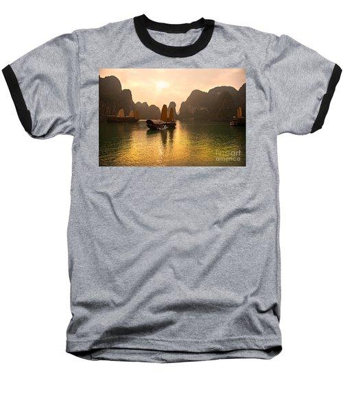 Baseball T-Shirt featuring the photograph Halong Bay - Vietnam by Luciano Mortula