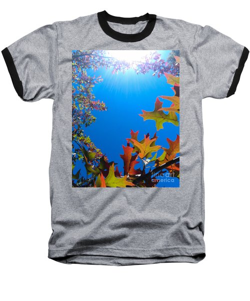 Baseball T-Shirt featuring the photograph Happy Autumn by CML Brown