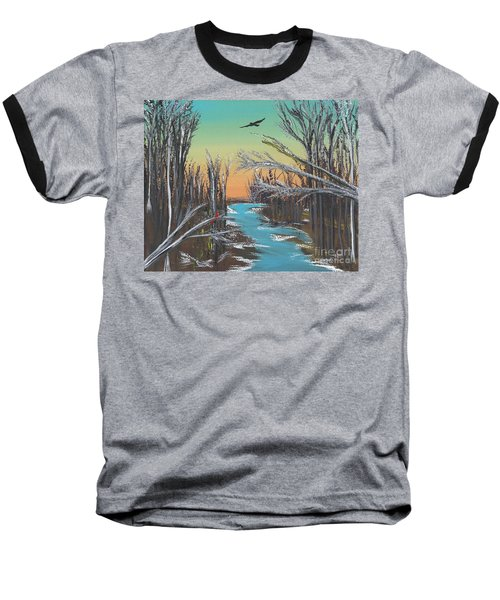 Baseball T-Shirt featuring the painting Happy Day by Alys Caviness-Gober
