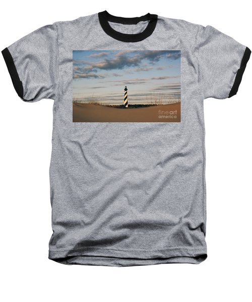 Hatteras Lighthouse And The Smiling Dune Baseball T-Shirt