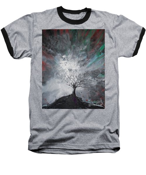 Haunted Tree Baseball T-Shirt
