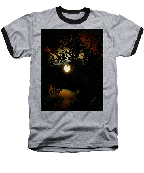 Baseball T-Shirt featuring the photograph Haunting Moon IIi by Jeanette C Landstrom
