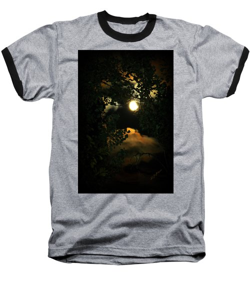 Baseball T-Shirt featuring the photograph Haunting Moon by Jeanette C Landstrom