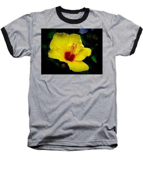Baseball T-Shirt featuring the photograph Hawaiian Yellow Hibiscus by Athena Mckinzie